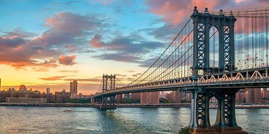 bolcom  Glas schilderij Manhattan brug New York City