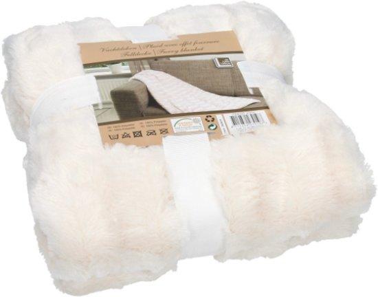 bolcom  Fleece deken wit  Vacht