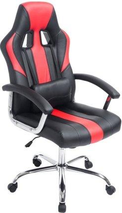 Clp Racing bureaustoel - Sport seat racing OLYMP - Gaming chair - zware belasting, ergonomisch - zwart/rood,