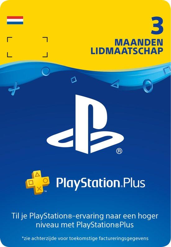 PS Plus Kaart NL - PlayStation Plus 3 maanden - PSN PlayStation Network Kaart (NL)