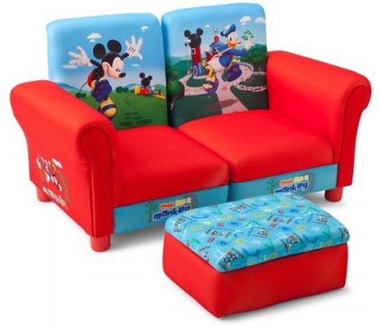 bolcom  Kinderbank met Poef Mickey Mouse