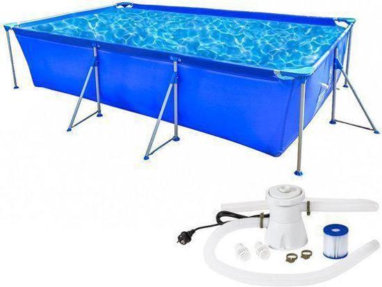 Tectake Zwembad Swimming Pool Met Pomp Stalen Frame Xx