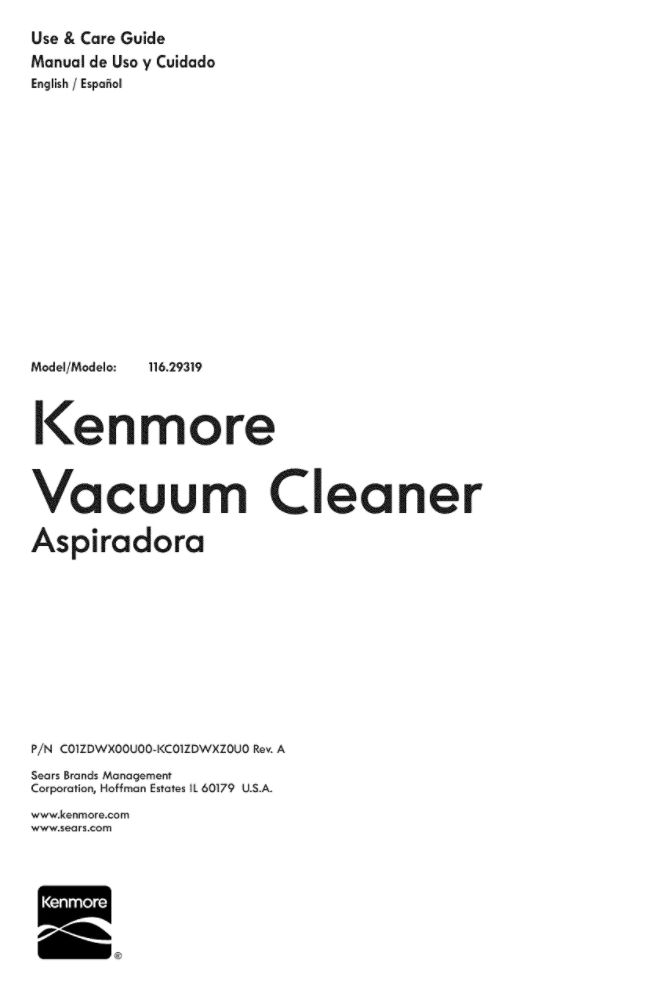 Looking for vacuum owner's manual KC01ZDWMZ0U0 replacement