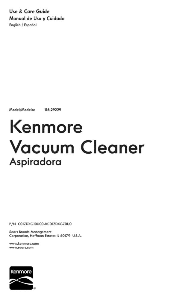Looking for vacuum owner's manual KC01ZDXGZ0U0 replacement