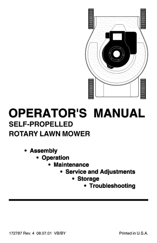 Sears Parts Manual Lawn Mower