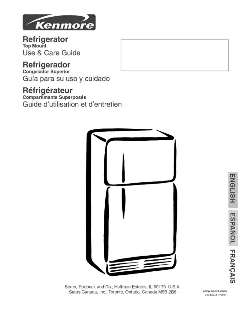 Refrigerator Owners Manual 240432311