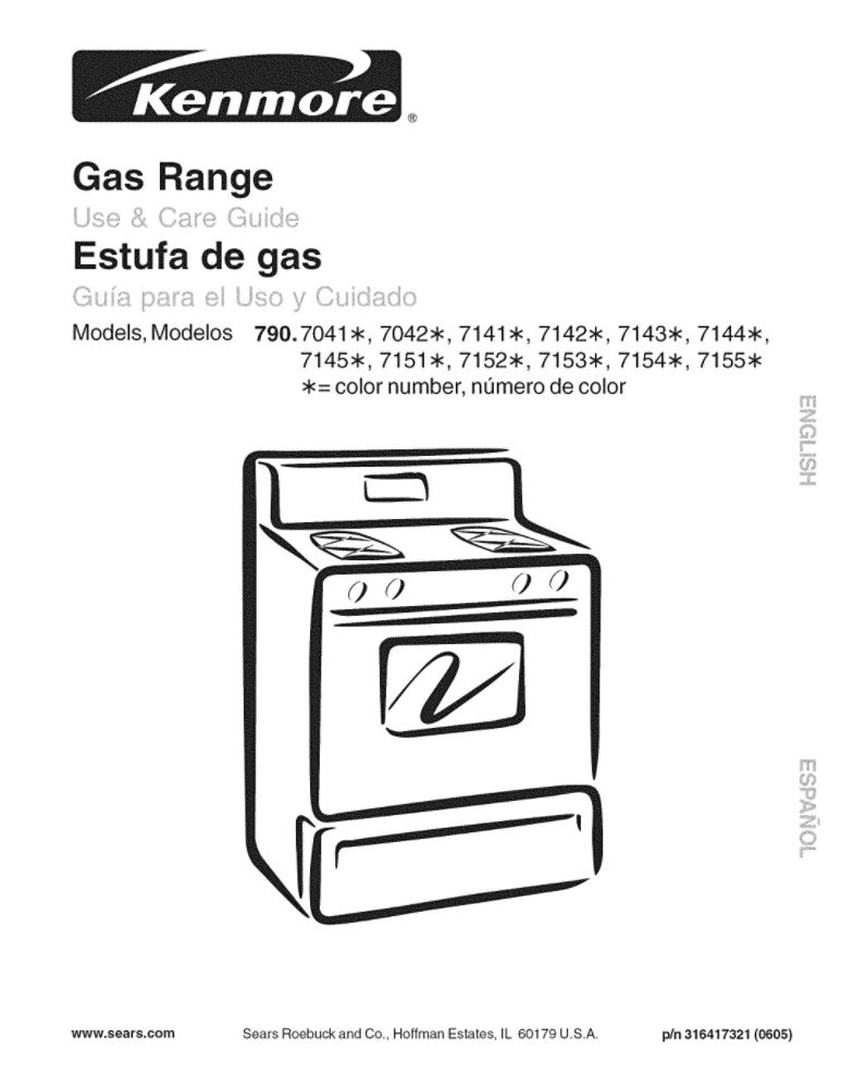 Looking for range owner's manual 316417321 replacement or