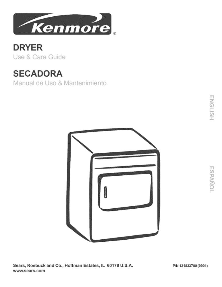 Looking for dryer owner's manual 131823700 replacement or