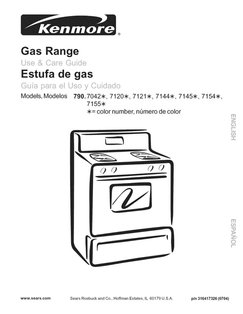 Looking for range owner's manual 316417326 replacement or