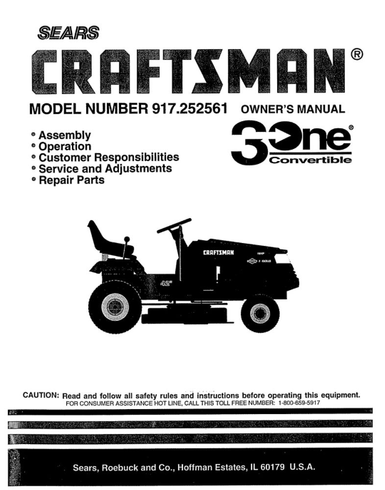 Lawn Tractor Owners Manual 150332