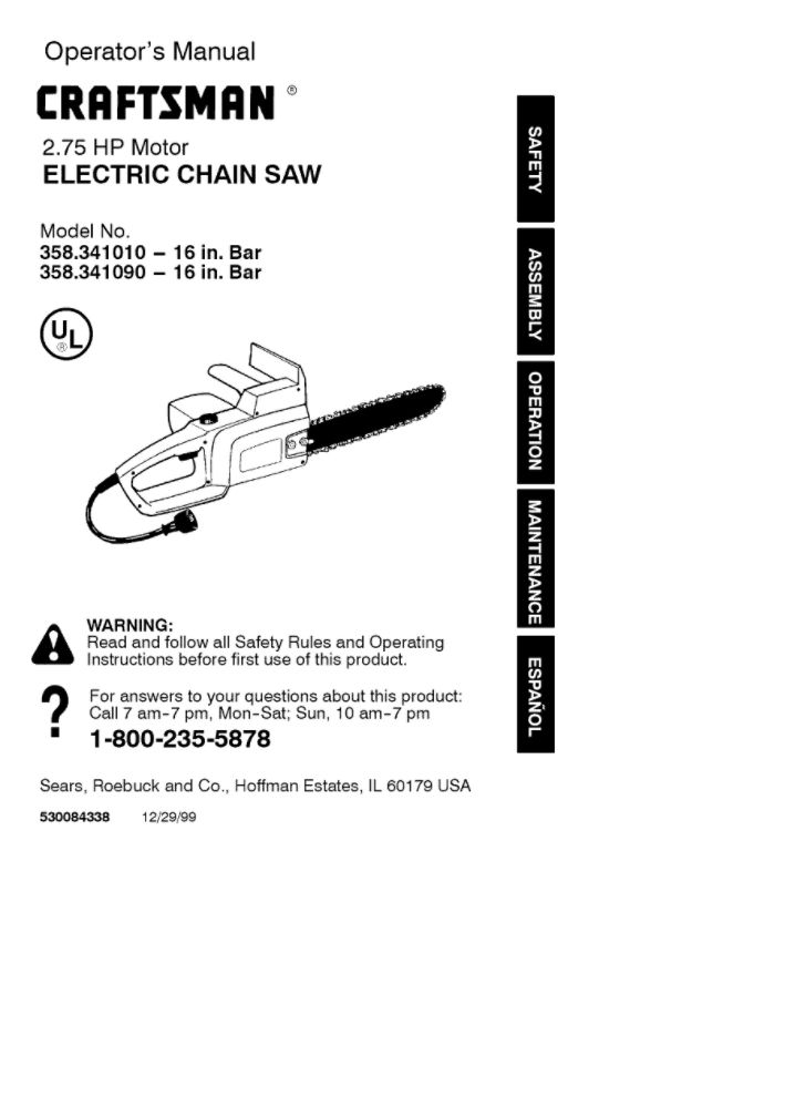Chainsaw Owners Manual