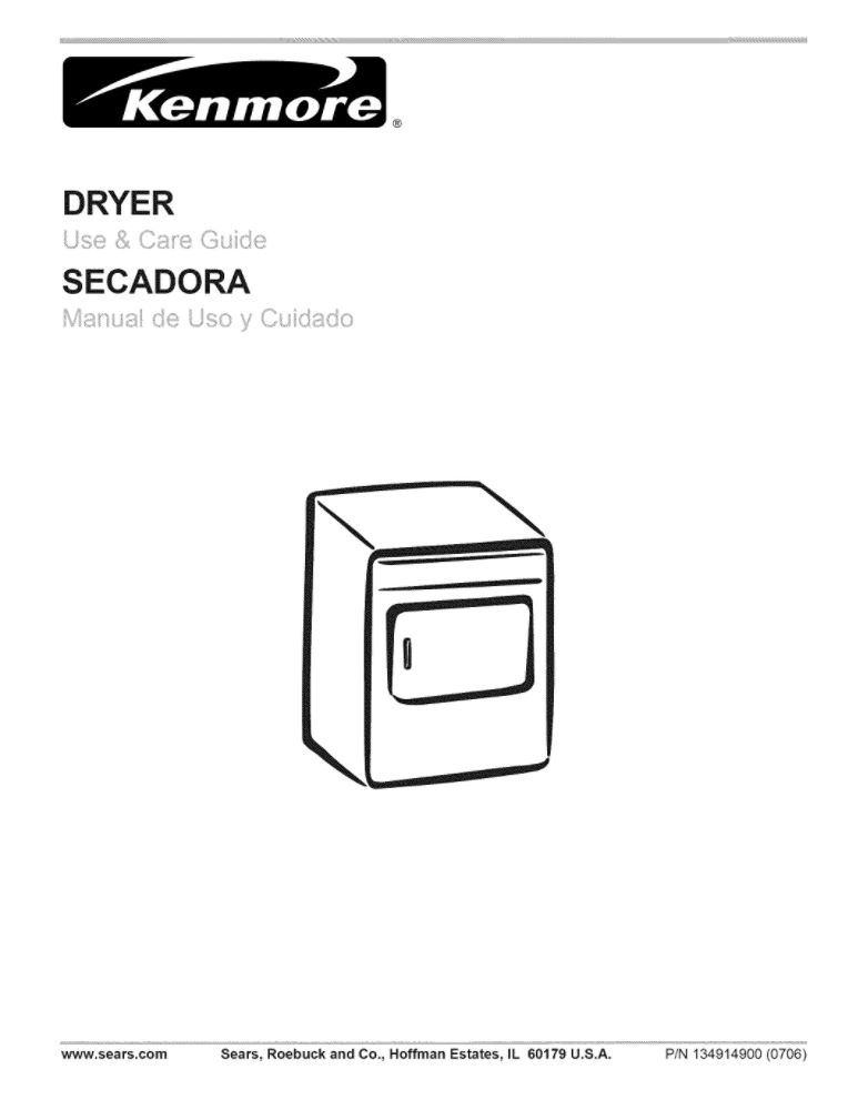 Looking for dryer owner's manual 134915800 replacement or