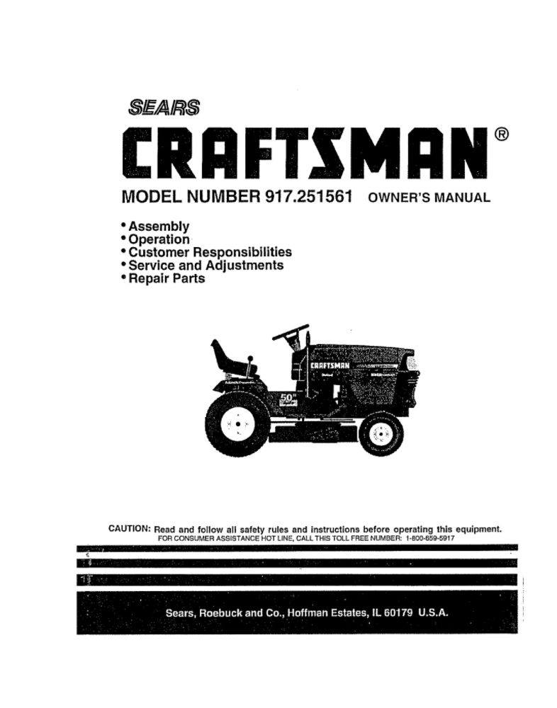 Looking for lawn tractor owner's manual 154453 replacement