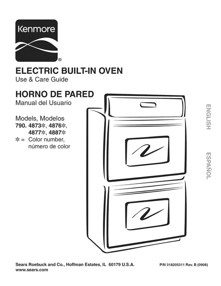 Wall Oven Owners Manual 318205311