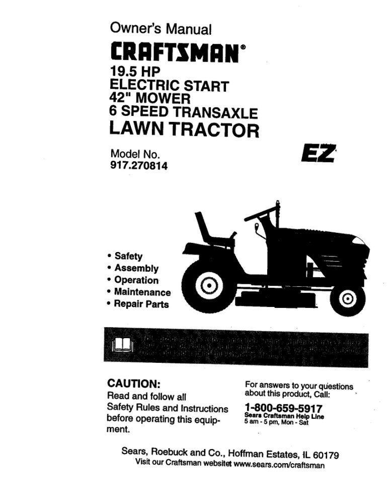 Looking for lawn tractor owner's manual 172206 replacement