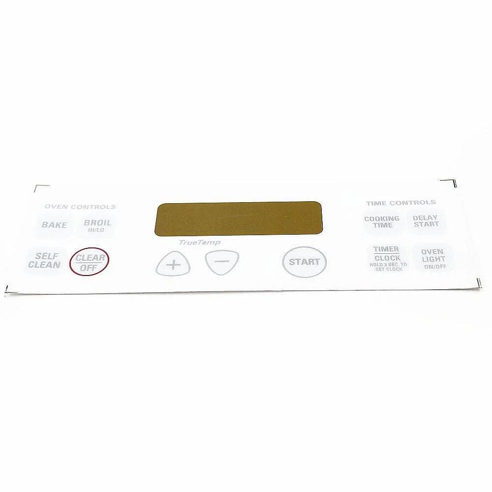 Range Oven Control Overlay