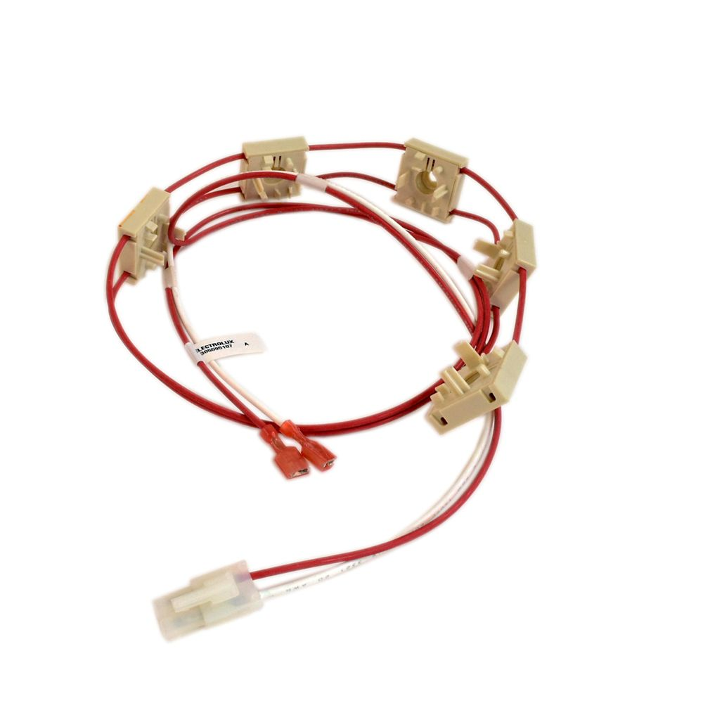 Cooktop Igniter Switch and Harness Assembly