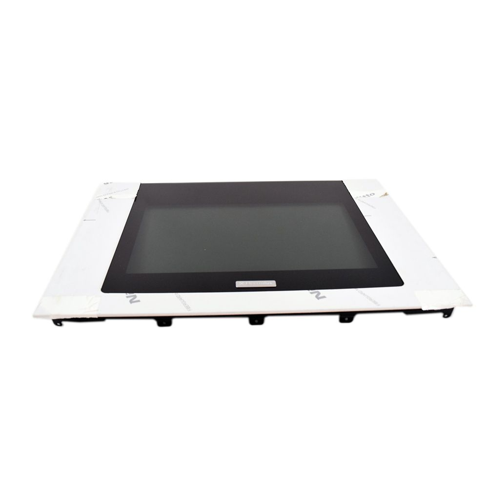 Range Oven Door Outer Panel Assembly (Black and Stainless)