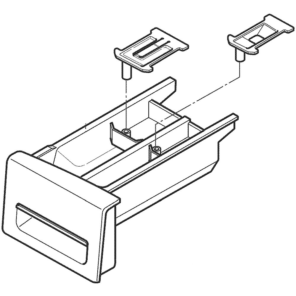 Lg AGL74121401 Washer Dispenser Drawer Assembly Genuine