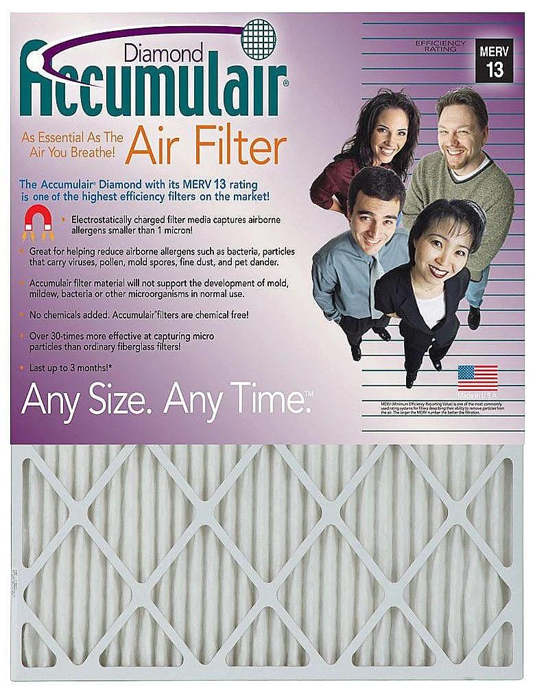 Accumulair Diamond Air Filter 17.25 x 17.25 x 2-in 12-pack