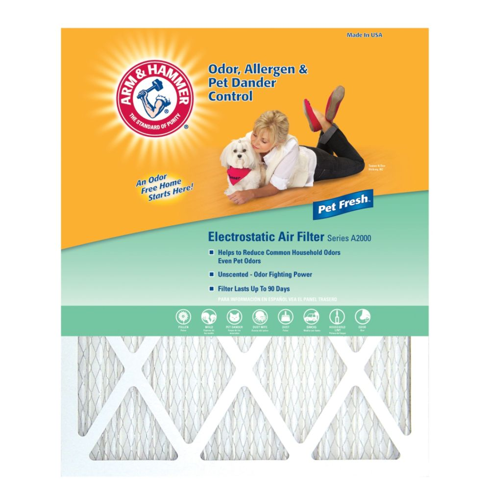 Arm & Hammer Air Filter 16 x 25 x 1-in 12-pack
