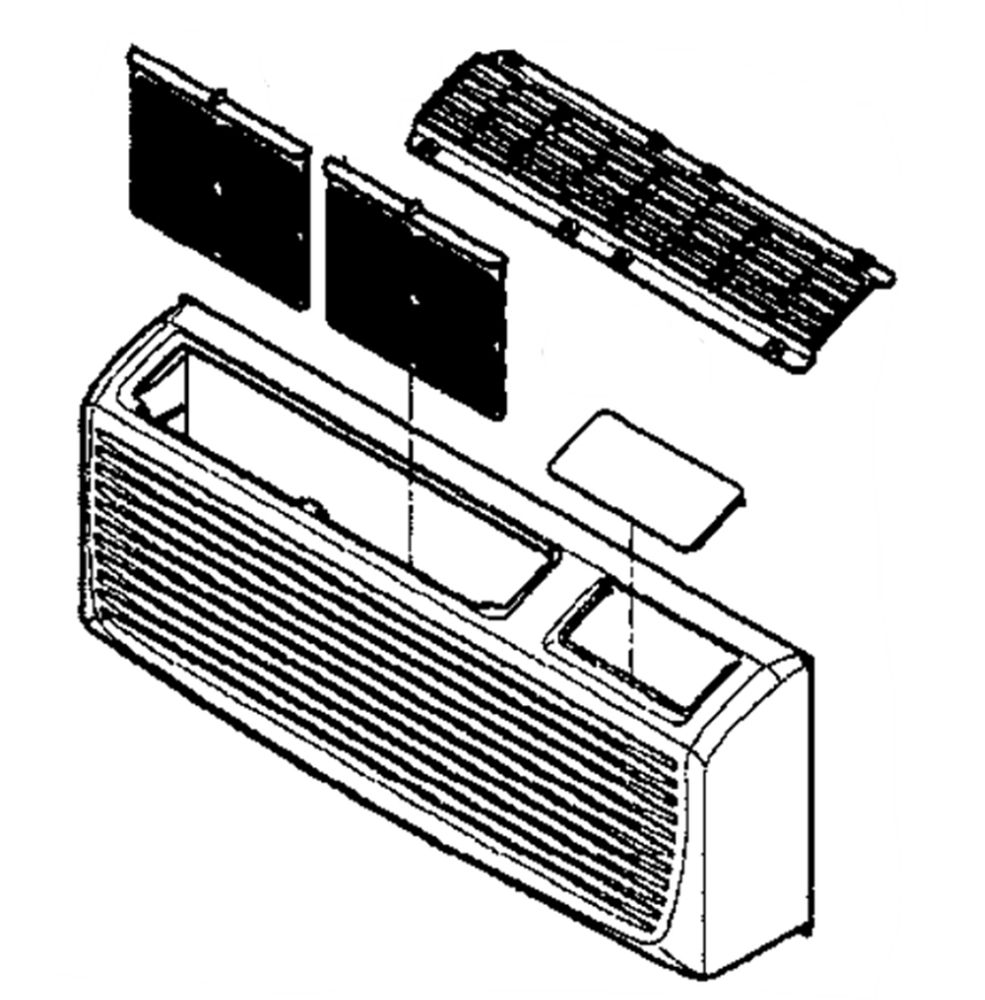 Lg 3531A10149D Room Air Conditioner Front Grille Assembly