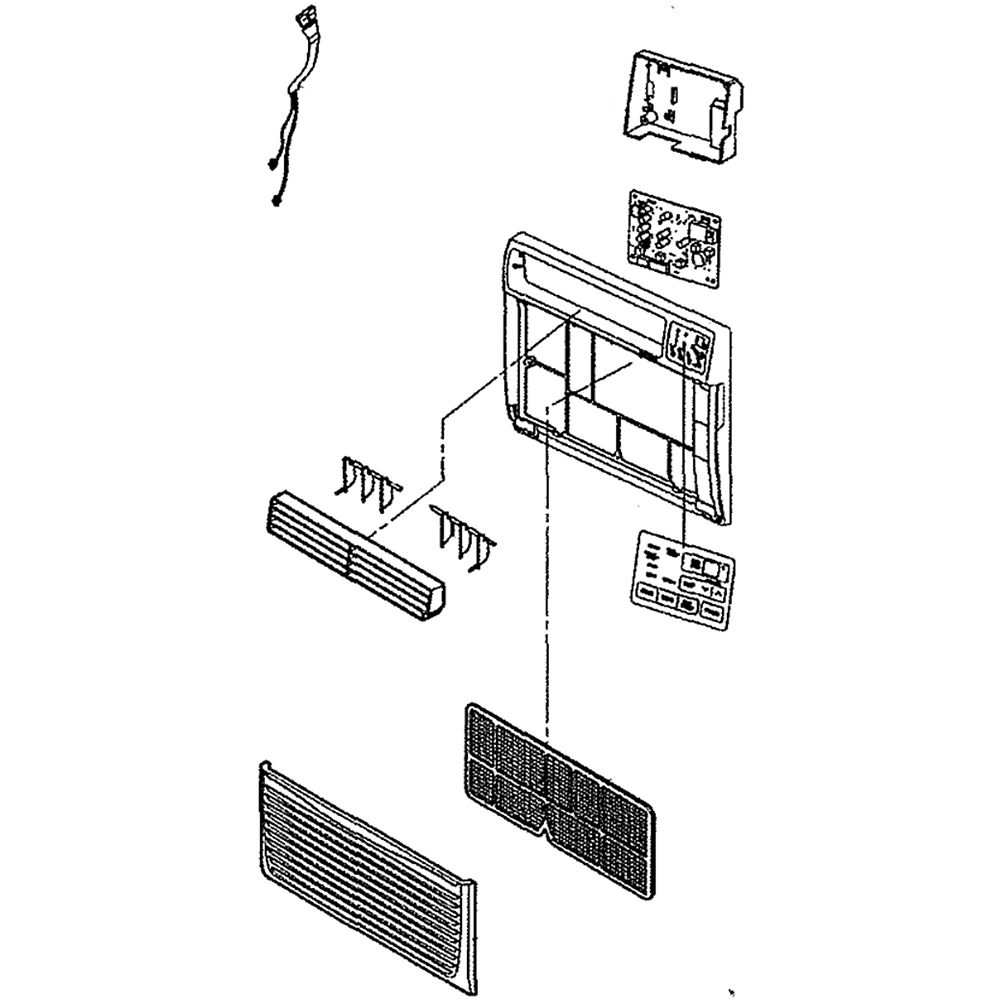 Lg AEB75245501 Room Air Conditioner Front Grille Assembly