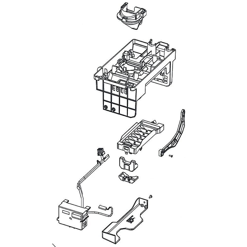 Refrigerator 7-Cube Ice Maker Assembly 30122-0041900-02