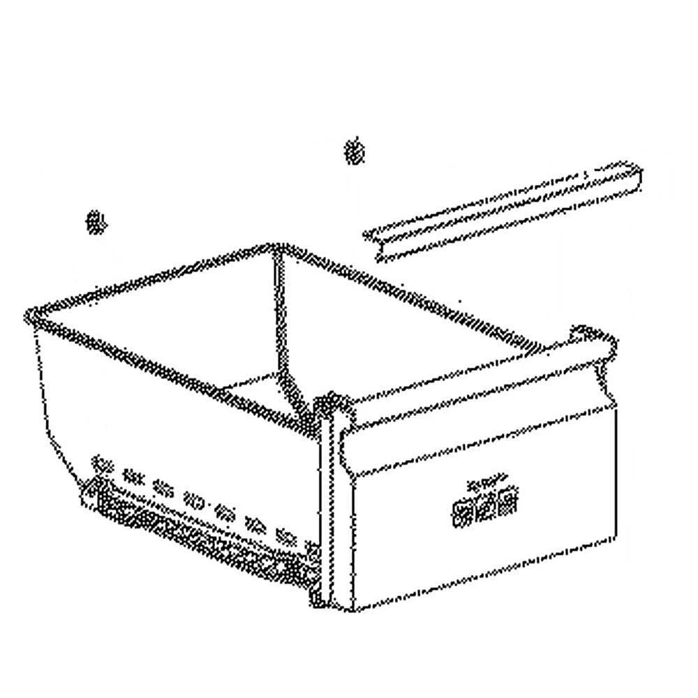 Refrigerator Freezer Basket DA97 12932C