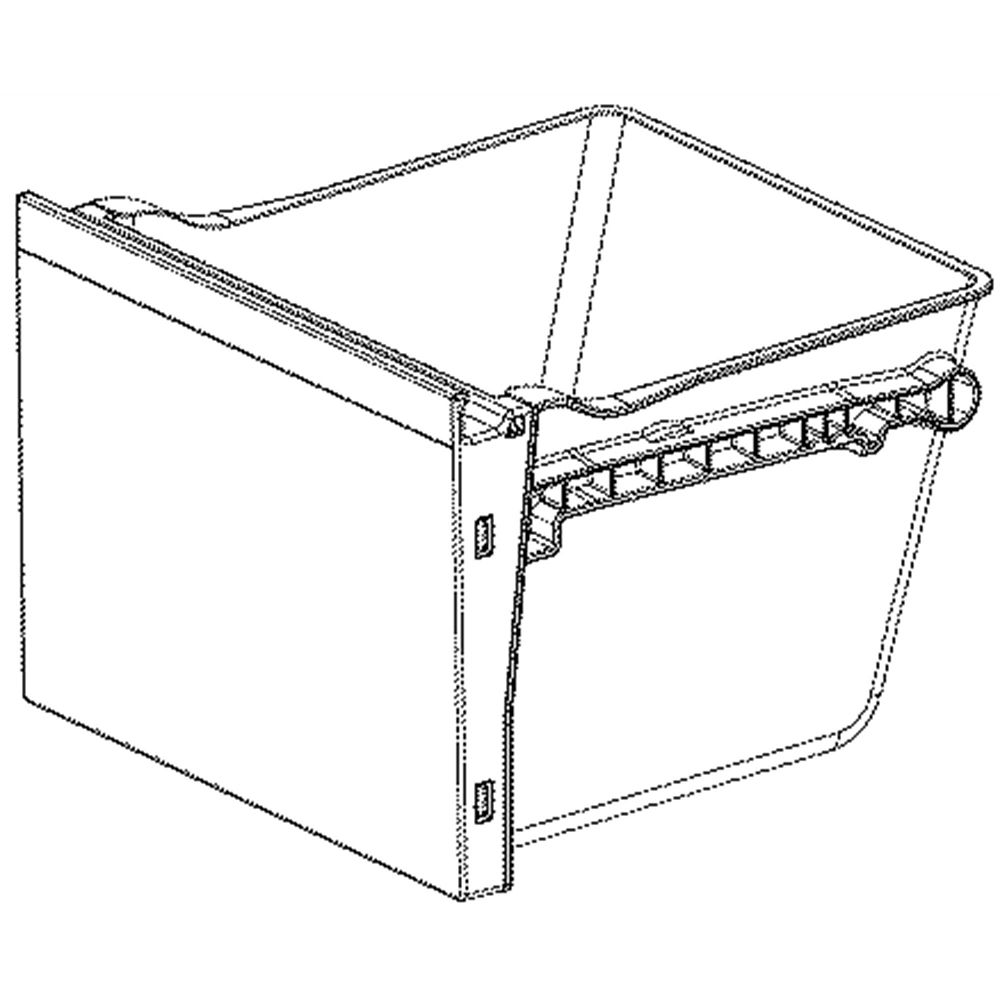 Lg AJP73595146 Refrigerator Freezer Drawer Genuine OEM