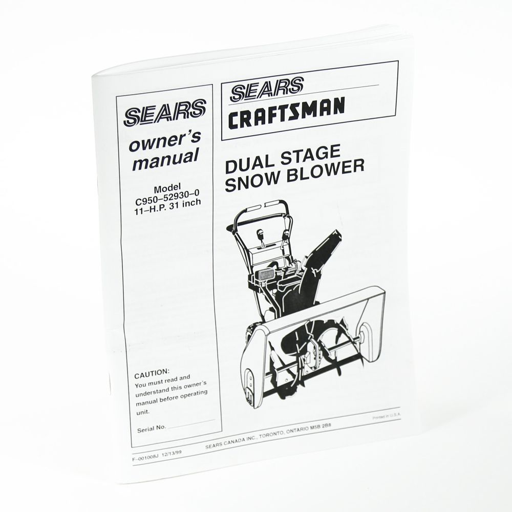 Craftsman Snow Removal Equipment Parts Sears Partsdirect