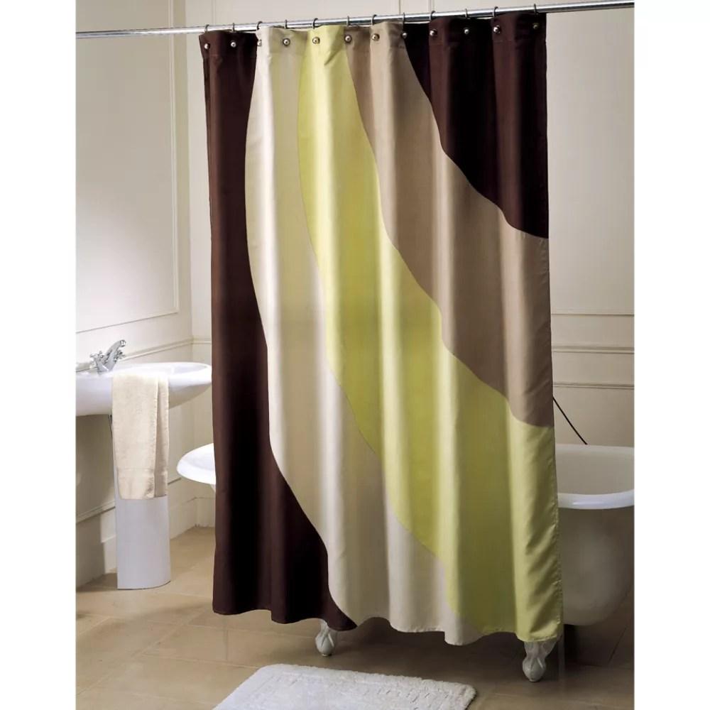 Brown bathroom shower curtains - Retro Shower Curtain For Your Bathroom