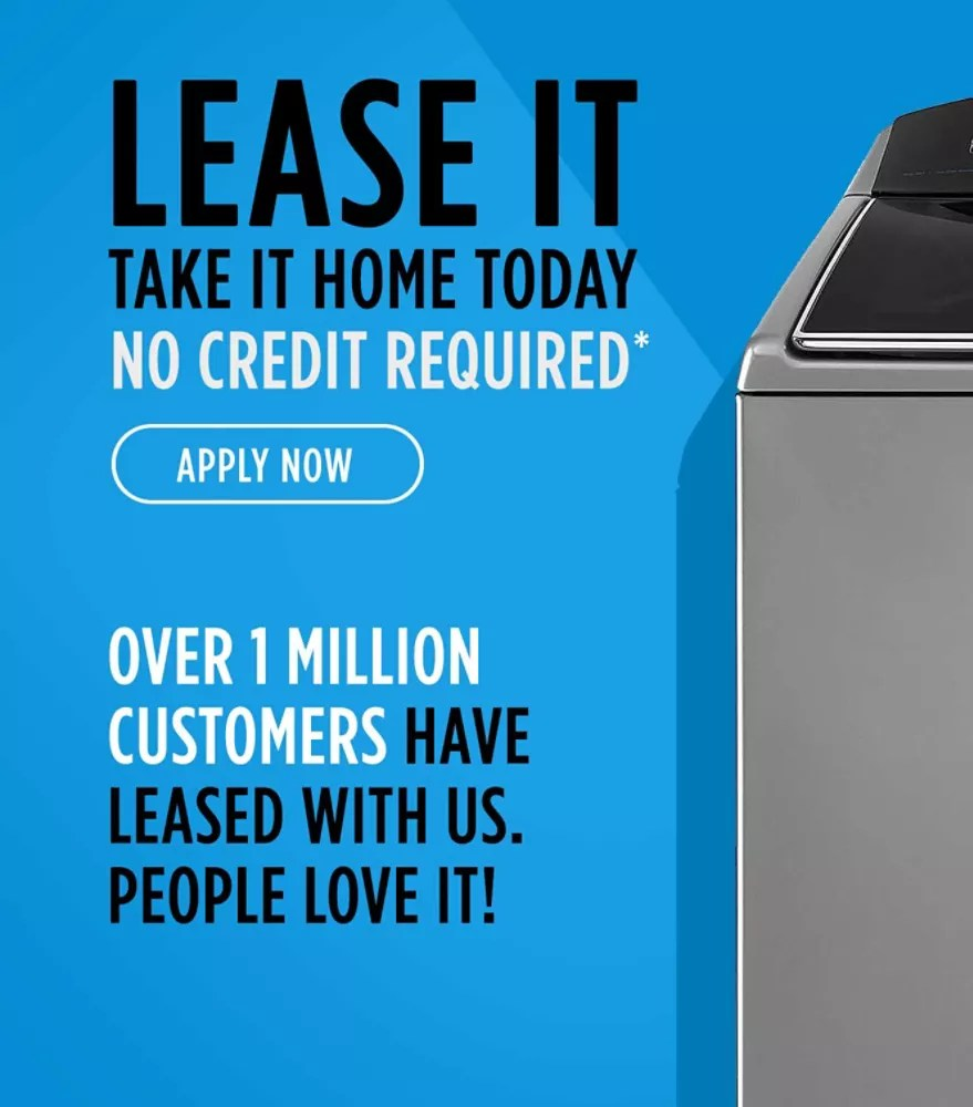 kitchen appliances pay monthly best inexpensive faucet leasing kmart lease it take home today no credit required apply