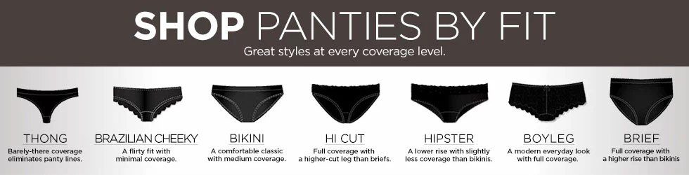 Shop panties by fit great styles at every coverage level also women   sears rh