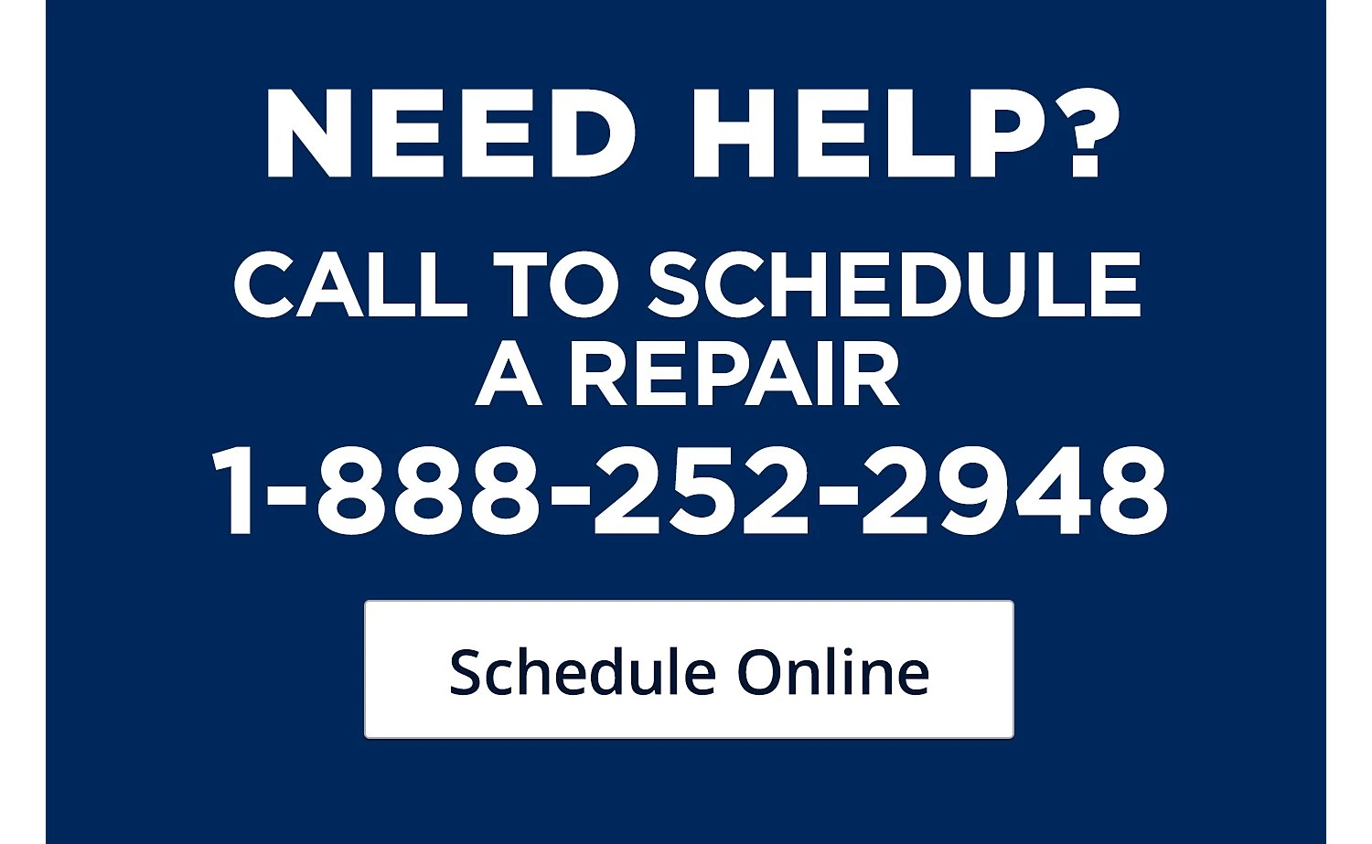 hight resolution of call to schedule a repair
