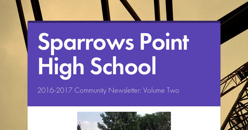 Sparrows Point High School  Smore Newsletters for Business