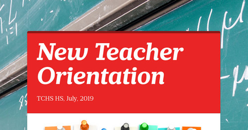 New Teacher Orientation  Smore Newsletters for Education