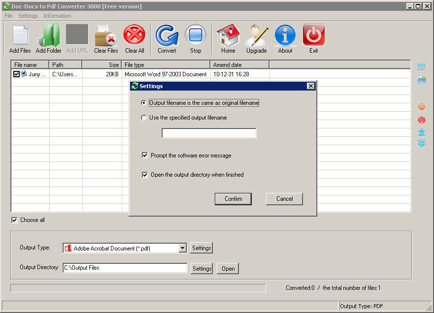 Doc-Docx to Pdf Converter 3000 download for free - SoftDeluxe
