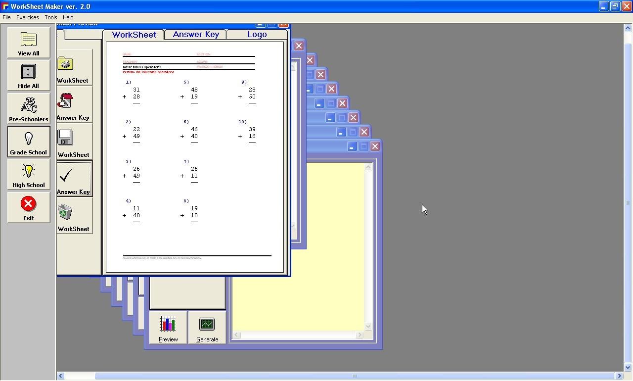 Worksheet Maker Download For Free