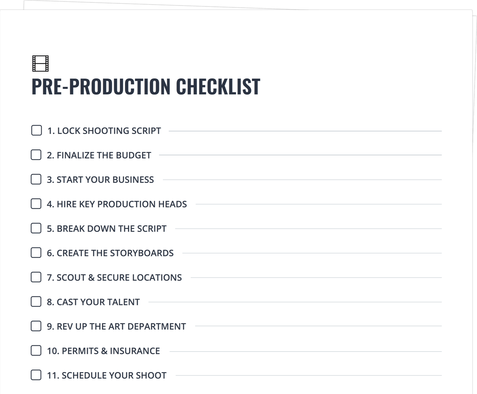 Daftar Harga Pre Production Checklist Template 13 Production Schedule Termurah
