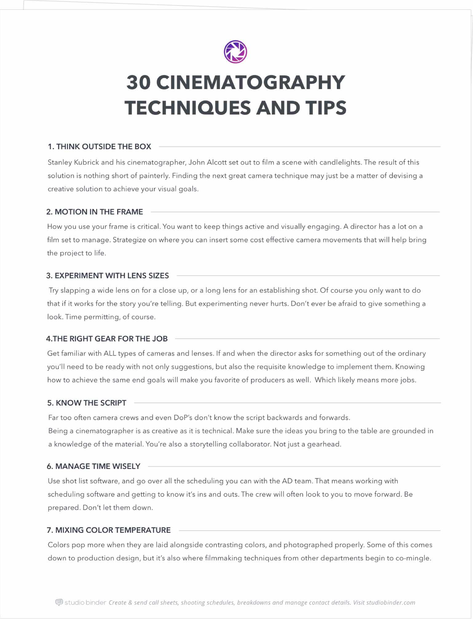 30 Best Cinematography Techniques Amp Tips You Didn T Learn