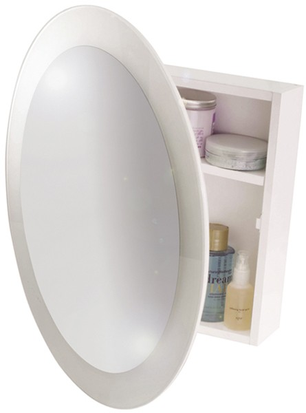 Croydex Cabinets CRCABINET04 Round Mirror Bathroom