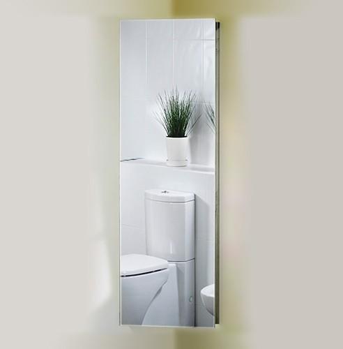 Corner Mirror Bathroom Cabinet 380x1200x200mm Roma