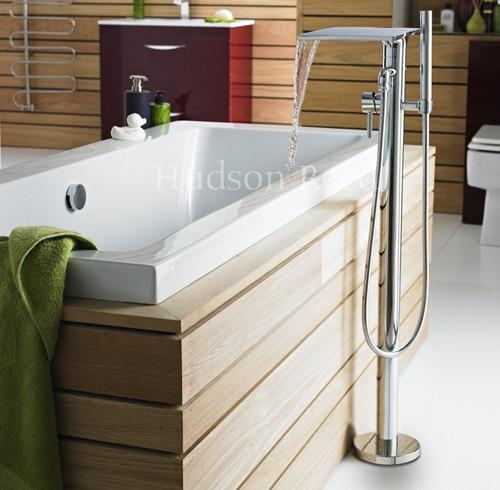 freestanding kitchen dash waterfall bath shower mixer tap. hudson reed ...