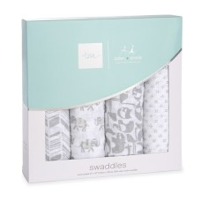 Tea Collection tea x aden + anais Savanna Animals Swaddle 4pk