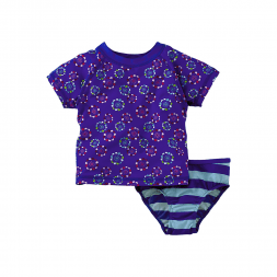 Tea Collection Flower Pop Rash Guard Set