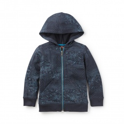 Tea Collection Paisley Patchwork Zip Hoodie