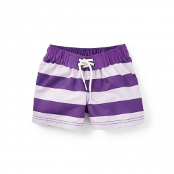 Tea Collection Swimmer Stripe Board Shorts