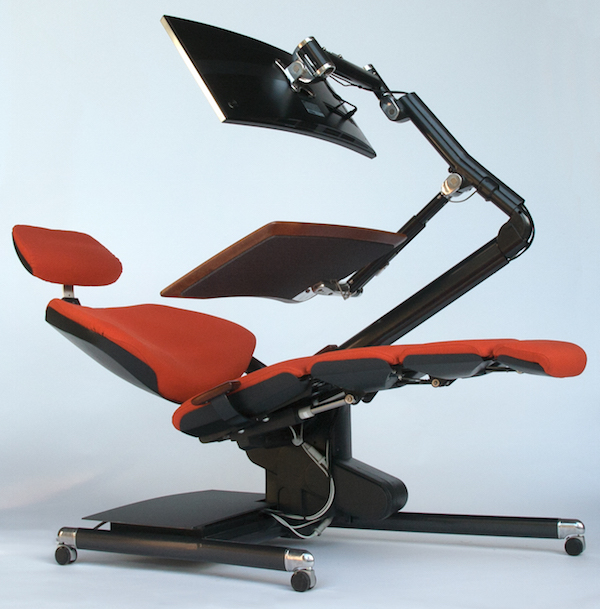 zero gravity desk chair keller barber sam s club what it really like to work in a bed your office thestreet the altwork workstation