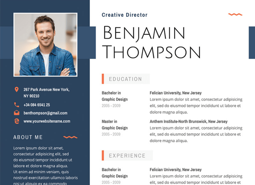graphic designer resume template 2017